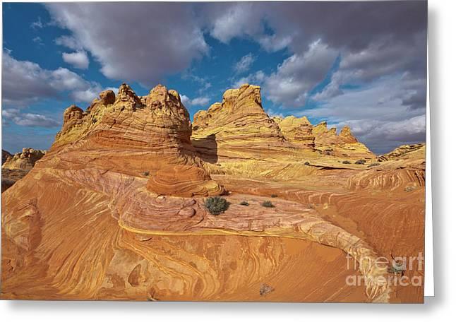 Sandstone Vermillion Cliffs N Greeting Card by Yva Momatiuk John Eastcott