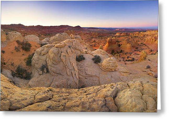 Sandstone Formations Coyote Buttes Greeting Card by Yva Momatiuk John Eastcott