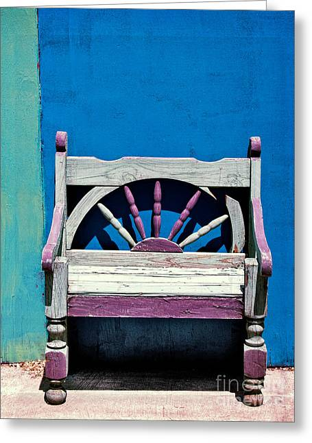 Empty Chairs Greeting Cards - Santa Fe Chair Greeting Card by Elena Nosyreva