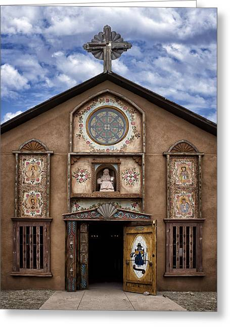 Religious Art Photographs Greeting Cards - Santo Nino Chapel  Greeting Card by Nikolyn McDonald