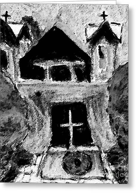 Holy Week Greeting Cards - Santuario de Chimayo Greeting Card by Patricia Januszkiewicz