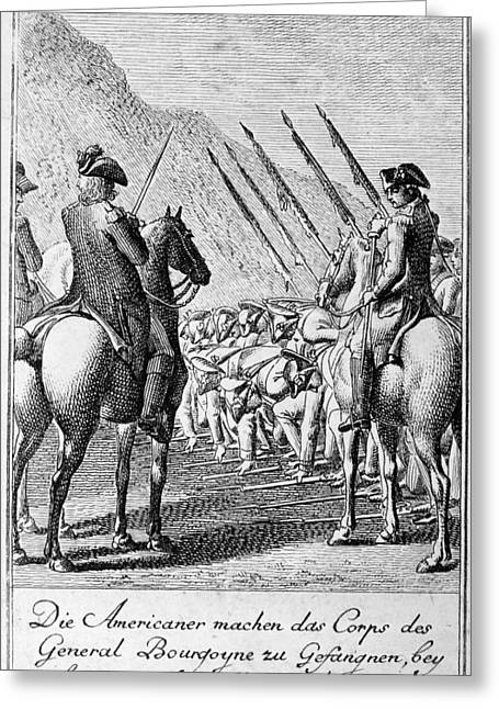 Burgoyne Greeting Cards - Saratoga Surrender, 1777 Greeting Card by Granger