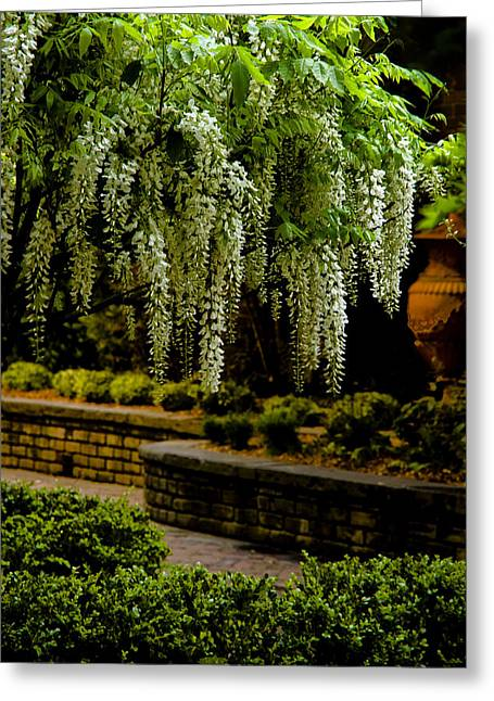 Juliette Low Greeting Cards - Savannah Courtyard Greeting Card by Diana Powell