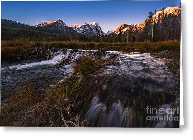 Snow-covered Landscape Greeting Cards - Sawtooth morning in Stanley Idaho Greeting Card by Vishwanath Bhat