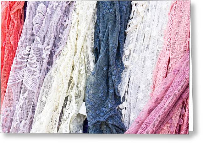 Selection Greeting Cards - Scarves Greeting Card by Tom Gowanlock