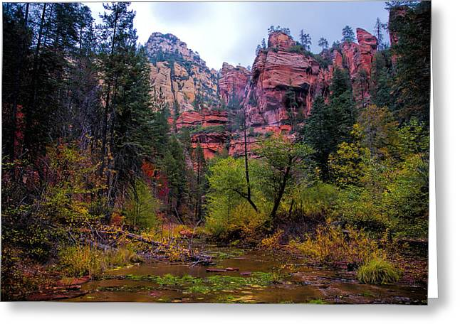 West Fork Greeting Cards - Scenic Cliffs Greeting Card by Brian Lambert