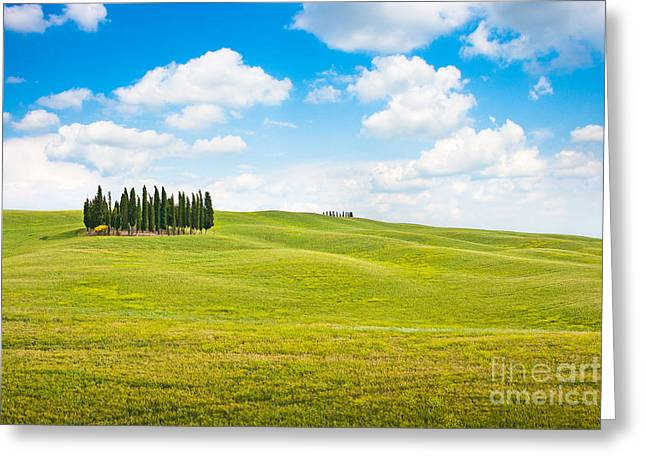 Chianti Greeting Cards - Scenic Tuscany Greeting Card by JR Photography
