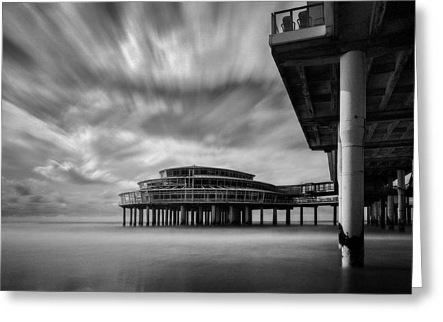 Scheveningen Greeting Cards - Scheveningen Pier 1 Greeting Card by Dave Bowman