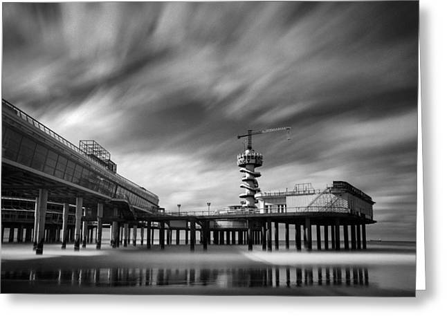 Beneath Greeting Cards - Scheveningen Pier 2 Greeting Card by Dave Bowman