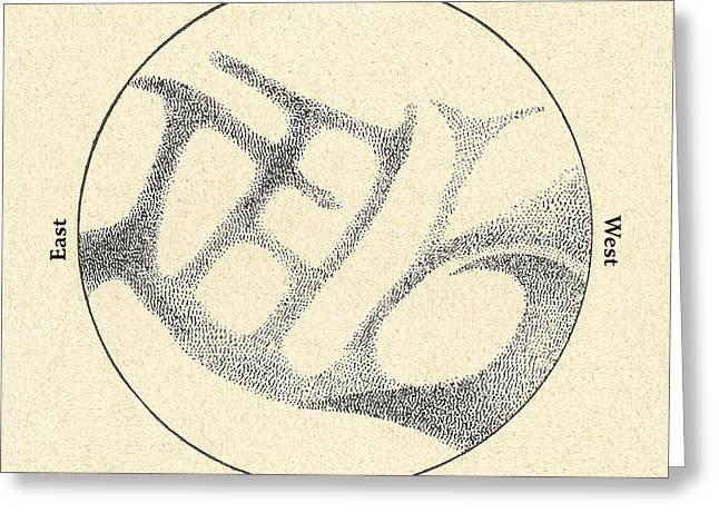 Planet Map Greeting Cards - Schiaparellis Observations Of Mercury Greeting Card by Detlev van Ravenswaay