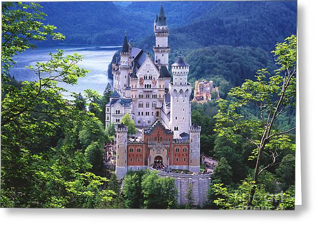 Schloss Neuschwanstein Greeting Card by Timm Chapman