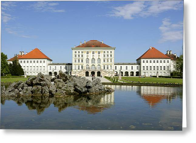 Bauwerk Greeting Cards - Schloss Nymphenburg In Muenchen, Castle Greeting Card by Tips Images