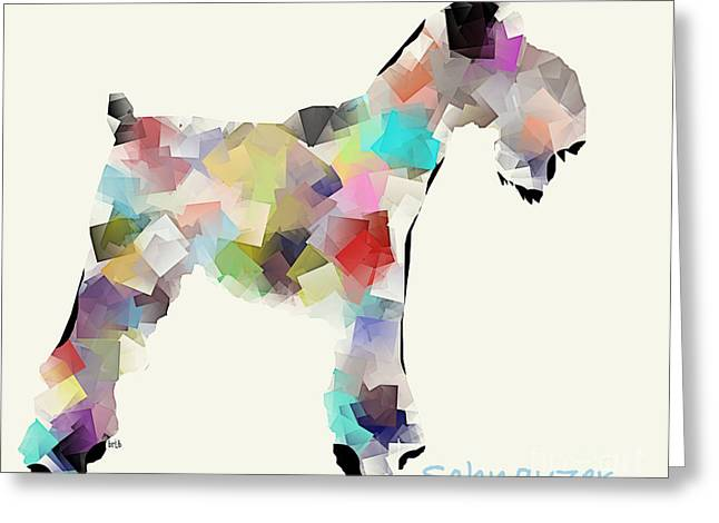 Dog Artists Greeting Cards - Schnauzer Greeting Card by Bri Buckley