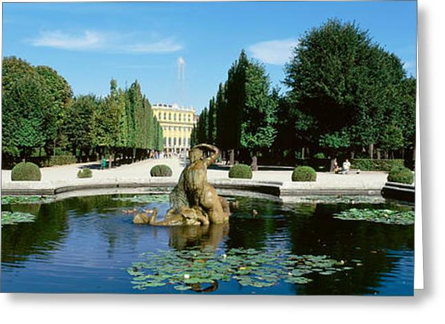Garden Scene Photographs Greeting Cards - Schonbrunn Palace, Vienna, Austria Greeting Card by Panoramic Images
