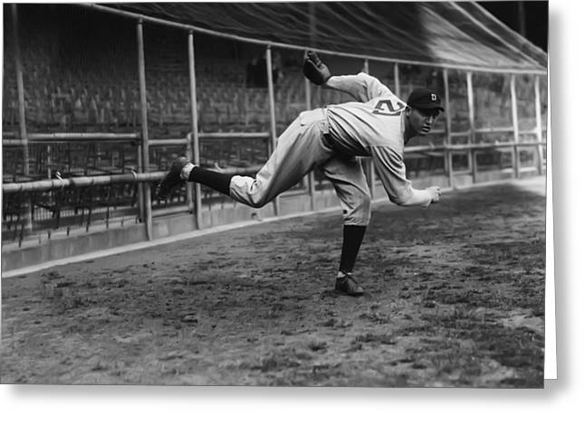 Baseball Game Greeting Cards - Schoolboy Rowe Greeting Card by Retro Images Archive