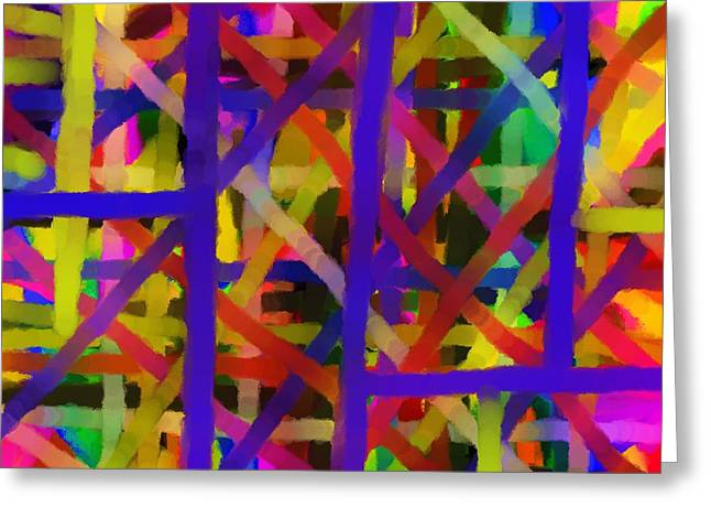Abstract Digital Drawings Greeting Cards - Schreien Greeting Card by Sir Josef  Putsche