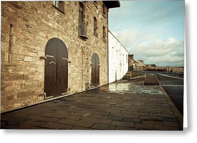 Blue Brick Greeting Cards - Scottish building Greeting Card by Tom Gowanlock