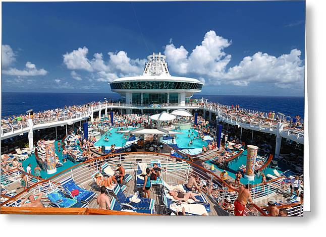 Cruise Vacation Greeting Cards - Sea Day Adventure of the Seas Greeting Card by Amy Cicconi