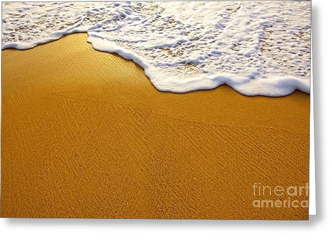 Background Greeting Cards - Sea Foam Greeting Card by Carlos Caetano