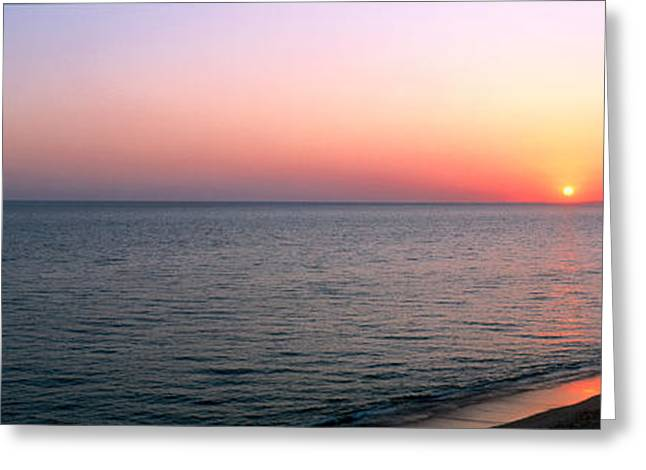 Algarve Greeting Cards - Seascape The Algarve Portugal Greeting Card by Panoramic Images