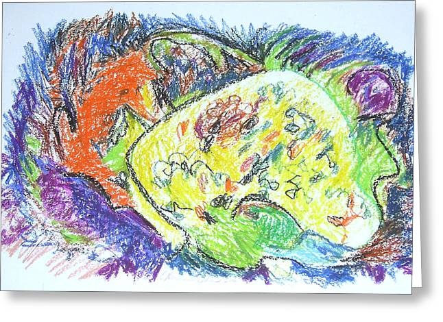 Seashell Drawings Greeting Cards - Seashell Greeting Card by Esther Newman-Cohen