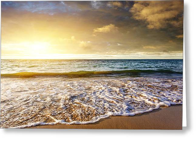 Skyscape Greeting Cards - Seashore Greeting Card by Carlos Caetano