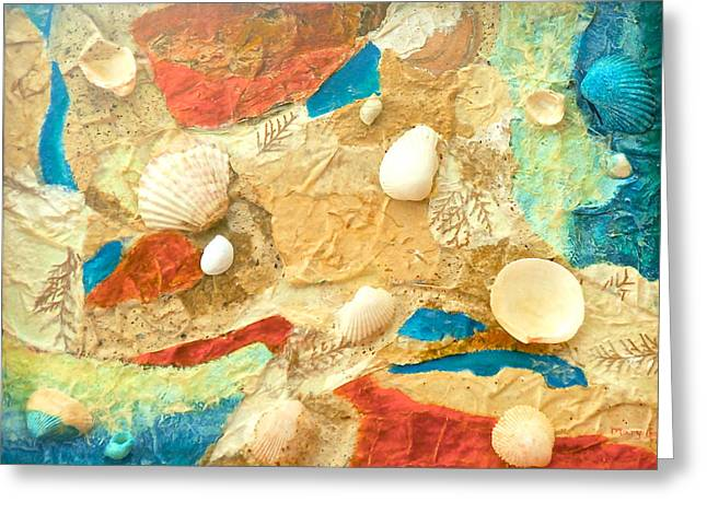 Shell Texture Greeting Cards - Seaside Retreat Greeting Card by Mary Gair