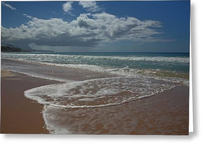 Koloa Greeting Cards - Secret Beach Kauai Greeting Card by Steven Lapkin