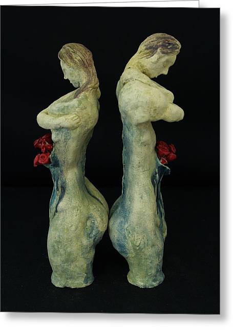 Therapy Sculptures Greeting Cards - Self-therapy Greeting Card by Tara Vahab