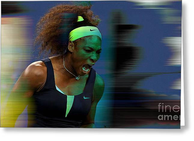 Serena Williams Greeting Cards - Serena Williams Greeting Card by Marvin Blaine