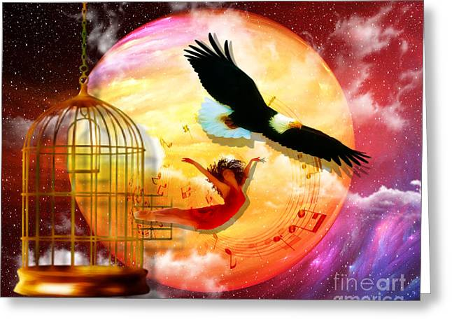 Isaiah Greeting Cards - Set Free Greeting Card by Dolores Develde