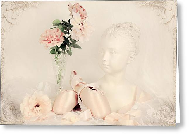 Chateau Greeting Cards - Shabby Chic Ballet Greeting Card by Theresa Tahara
