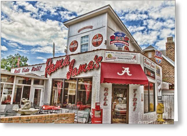 Alabama Campus Greeting Cards - Shadow of the Stadium Greeting Card by Scott Pellegrin