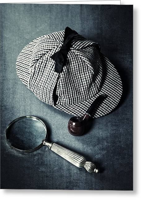 Edwardian Greeting Cards - Sherlock Holmes Greeting Card by Joana Kruse