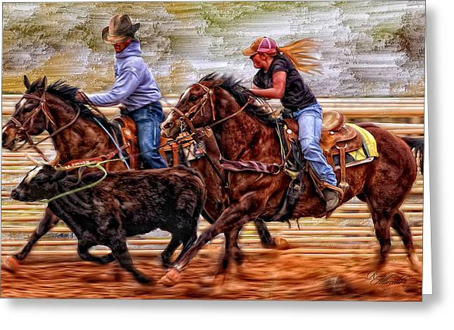 Cowgirl Prints Greeting Cards - Shes The Real Deal Greeting Card by Robert Albrecht