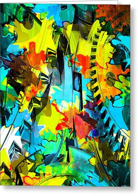 Cog Mixed Media Greeting Cards - Shifting Gears Greeting Card by Catherine Harms