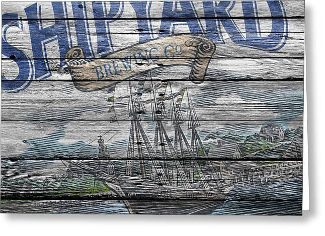 Shipyard Brewing Greeting Card by Joe Hamilton
