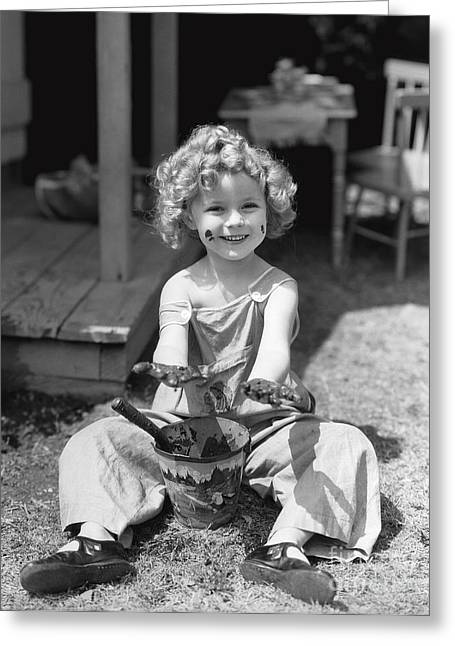 Shirley Temple Greeting Cards - Shirley Temple Greeting Card by MMG Archives