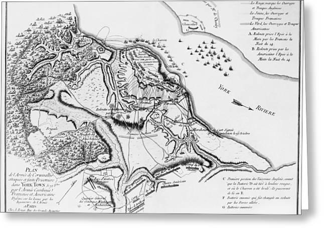 Siege Of Yorktown, 1781 Greeting Card by Granger