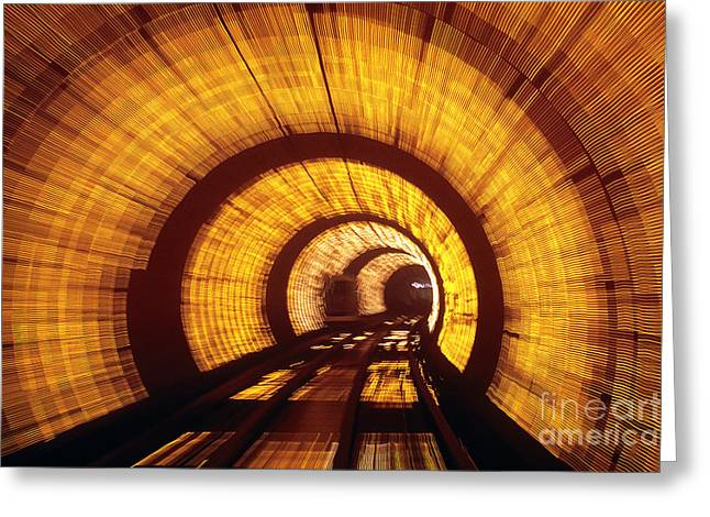 Huangpu River Greeting Cards - Sightseeing Tunnel Greeting Card by Rafael Macia