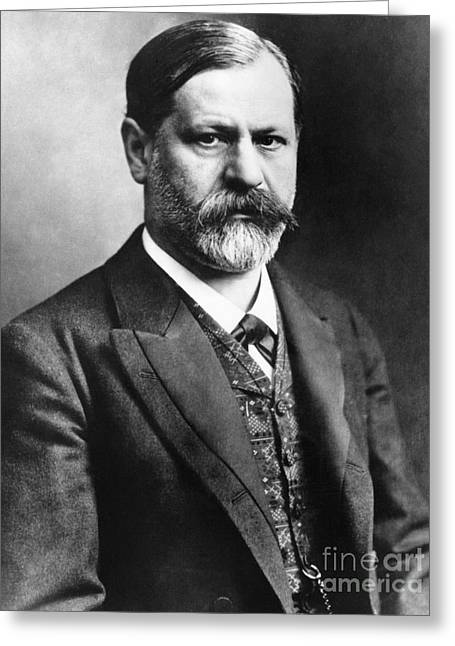 1907 Greeting Cards - Sigmund Freud (1856-1939) Greeting Card by Granger