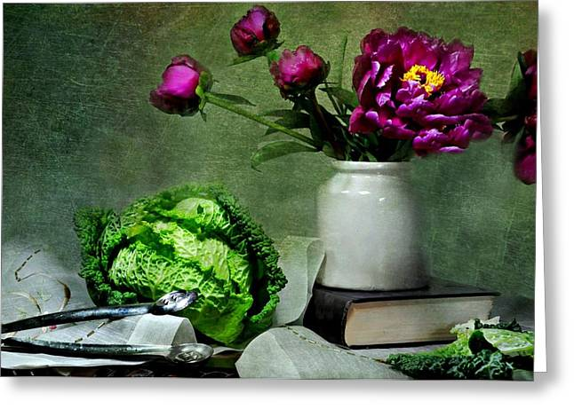 Table Top Still Life Greeting Cards - Silence is Golden Greeting Card by Diana Angstadt
