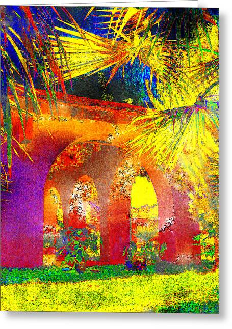 Patio Decor Greeting Cards - Simi Arches Greeting Card by Chuck Staley