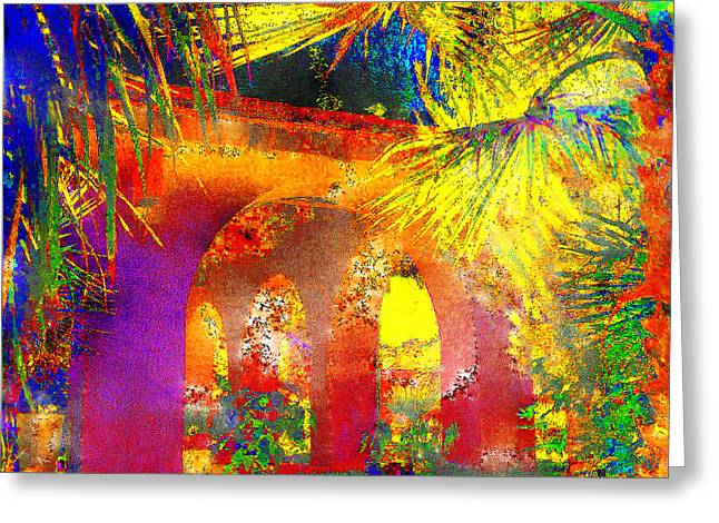 Simi Arches Greeting Card by Chuck Staley