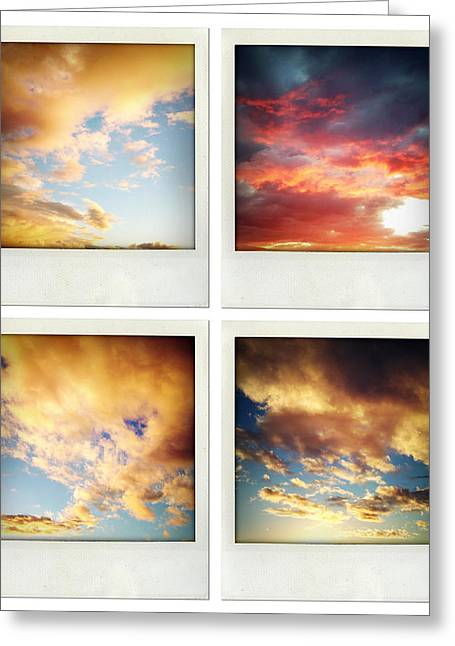 Sunset Abstract Photographs Greeting Cards - Skies Greeting Card by Les Cunliffe