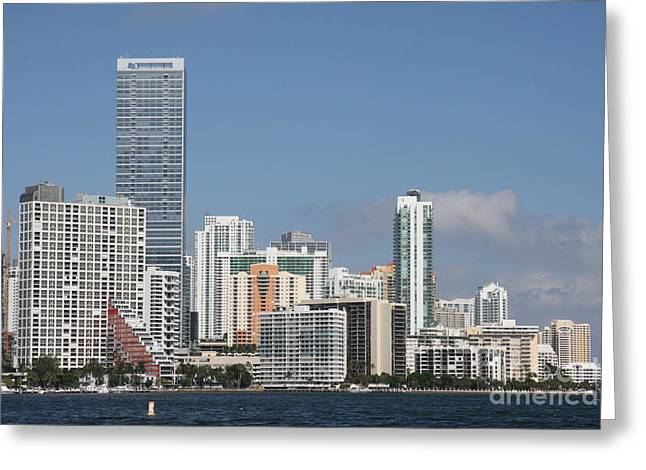 Skyline Miami Greeting Card by Christiane Schulze Art And Photography