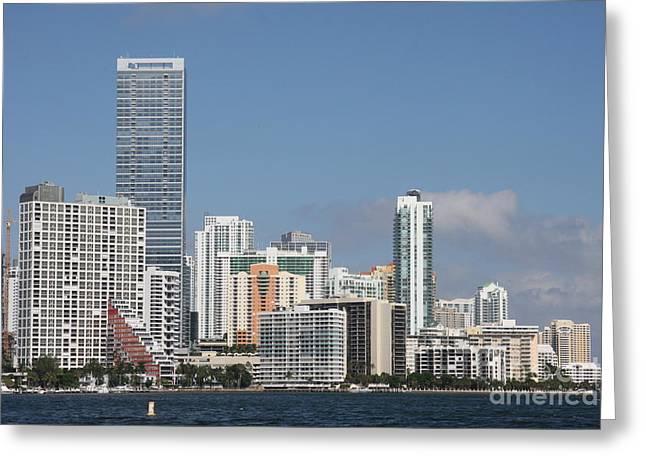 Christiane Schulze Greeting Cards - Skyline Miami Greeting Card by Christiane Schulze Art And Photography
