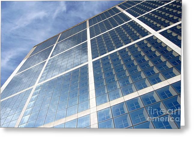 Manhatan Greeting Cards - Skyscraper Greeting Card by Michal Bednarek