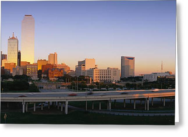 Reunion Greeting Cards - Skyscrapers In A City, Dallas, Texas Greeting Card by Panoramic Images