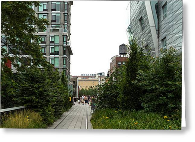 High Line Greeting Cards - Skyscrapers In A City, High Line Park Greeting Card by Panoramic Images